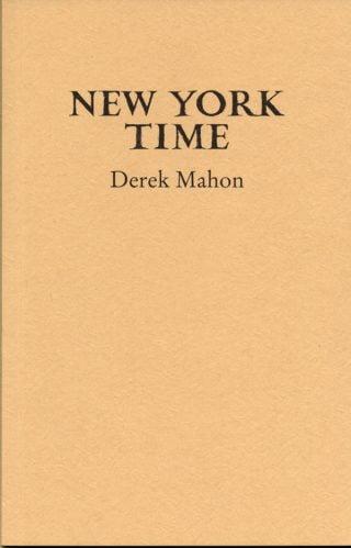 New York Time - Derek Mahon