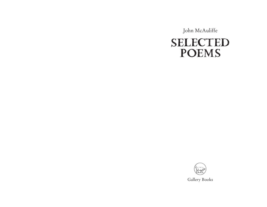 McAuliffe Selected Poems Preview