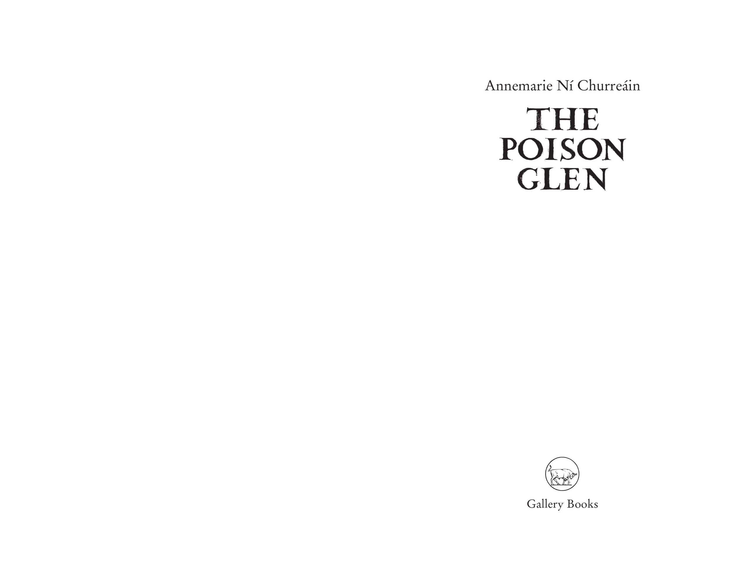 The Poison Glen Title Page
